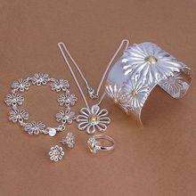 Precio de fábrica de calidad superior 925 lindo joyería fija el collar pulsera anillo del pendiente del brazalete envío libre SMTS314
