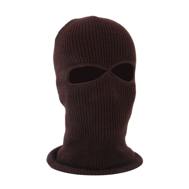 2/3 Hole Full Face Cap Outdoor Balaclava Riding Motorcycle Mask Knitting Face Mask Ski Mountaineering Head Cover 1