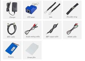 Image 3 - חדש 7 אינץ CCTV Tester צג IP אנלוגי מצלמה בודק 4MP 2MP WIFI Onvif PTZ בקרת POE 12 V פלט