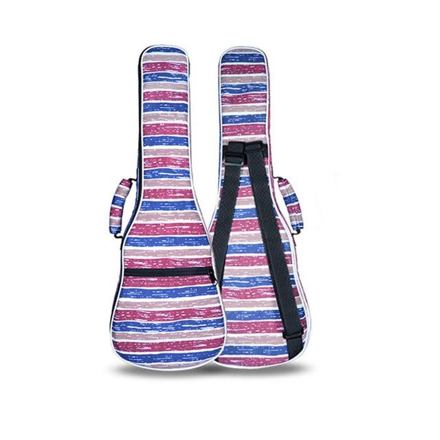 Cute gift  21 26 concert ukulele bag soprano case lanikai tenor guitar  padded backpack colorful pattern soft shoulder straps
