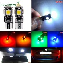 New White 2pcs T10 5050 5SMD 5 SMD 1W Led Car Light Canbus W5w 194 Error Free DC 12V Bulbs High Quality Wholesale