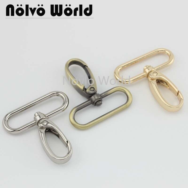 Wholesale 500pcs, 5 Colors Accept Mix Color, 47*36mm 1-1/2 Inch Metal Trigger Snap Hook Handbag Purse Adjusted Swivel Clasp Hook