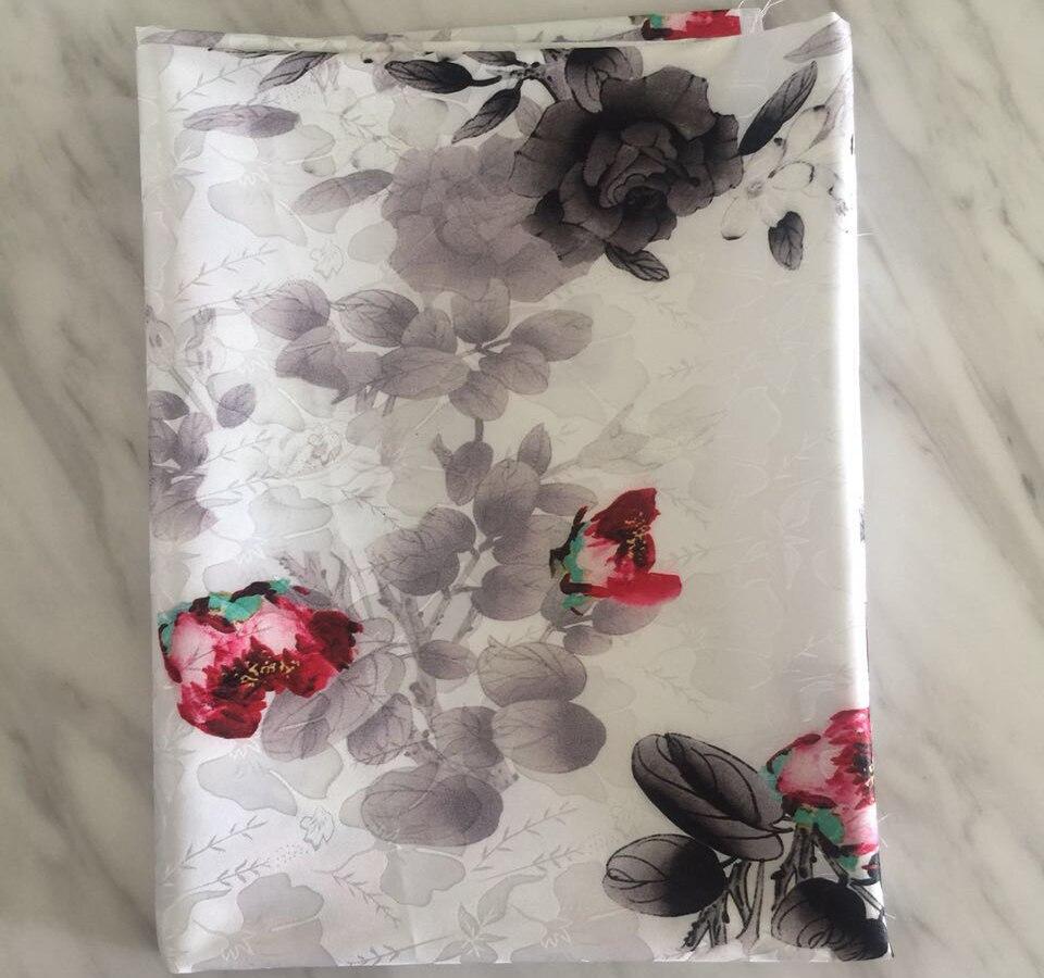 La France a importé le tissu doux de Jacquard du style 3D de peinture à l'huile de tissu de jacquard de mode pour la robe de femmes, décoration à la maison au mètre