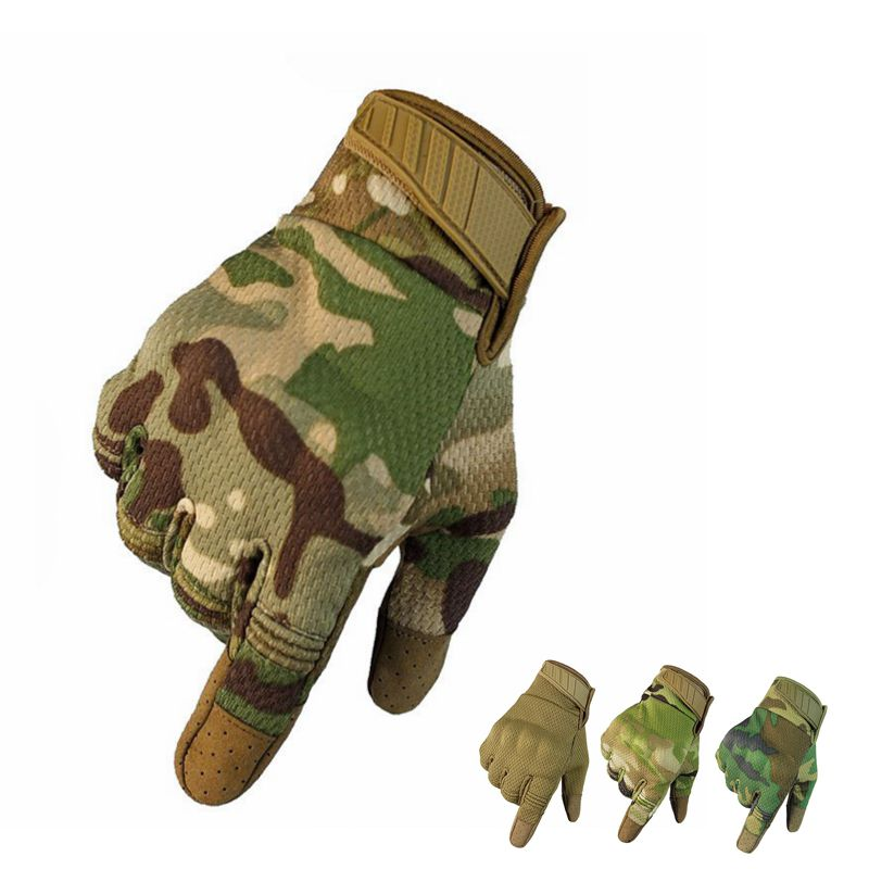 Touch Screen Tactical Gloves Military Army Combat Full Finger Multicam Camouflage Outdoor Climbing Shooting Paintball Men Gloves
