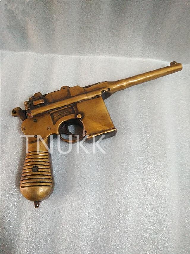 TNUKK Fare il vecchio bronzo antico metallo ottone rame ornamenti mano arma pistola pistole artigianato.TNUKK Fare il vecchio bronzo antico metallo ottone rame ornamenti mano arma pistola pistole artigianato.