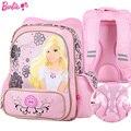 Barbie de dibujos animados los niños/niños de primaria mochila ortopédica hombro mochila cartera de libros para las niñas de grado 1-3