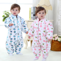Baby sleeping bag anti kick spring and winter thick quilted cotton sleeping bags removable sleeve warm 0-3 years cute