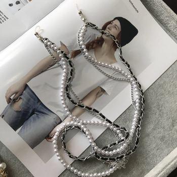 2019 Multi-layer White Pearl Sunglasses Chain Women Sexy Chain For Sunglasses Chic Eyeglasses Reading Glasses Chain Cord Holder