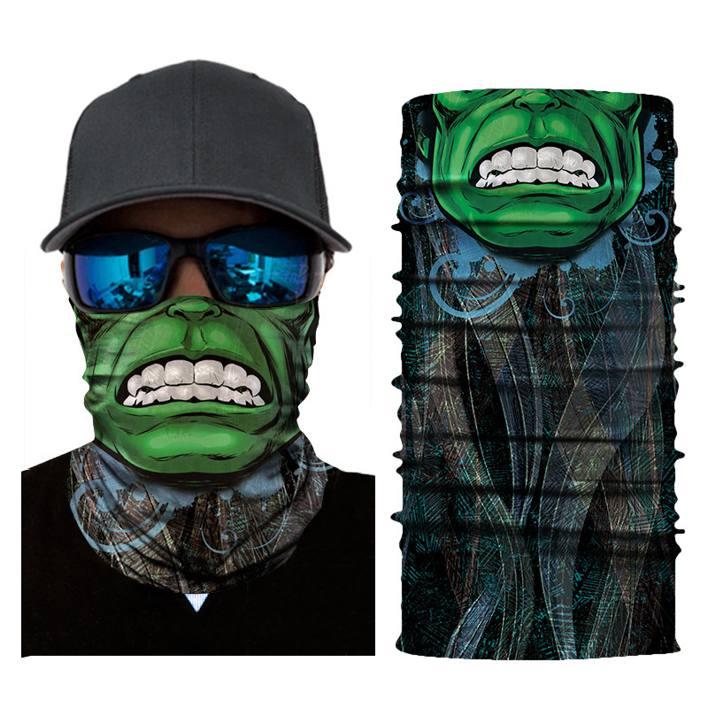 Seamless Variety Magic Turban Multifunction Cycling Sports Outdoor Windproof Sunscreen Soft Breathable Horror Scarf Mask
