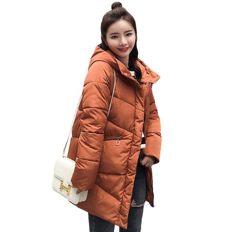 hot sale brown women winter hooded   basic     jacket   female outwear cotton warm coat thicken jaqueta feminina ladies camperas tops