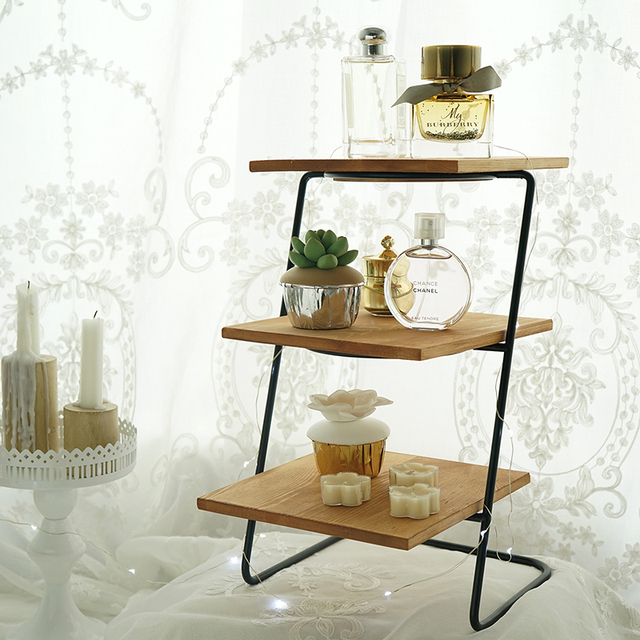 Removable Wood Cupcake Display Stand 3 Tiers Afternoon Dessert Holder Frame Cake Decorating Tools Perfume Storage
