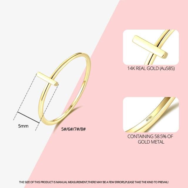 14K Yellow Gold Cross Ring 2