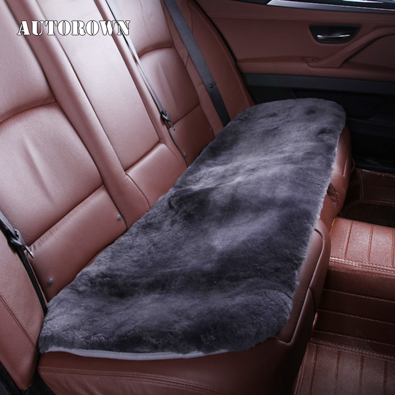 AUTOROWN Car-Seat-Cover Sheepskin Auto-Interior-Accessories Universal-Size Back for More-Car
