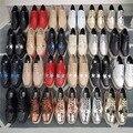 2017 best selling Stella cunhas sapatos com estrelas 1:1 de alta sapatos de couro do tornozelo da plataforma chaussures femme