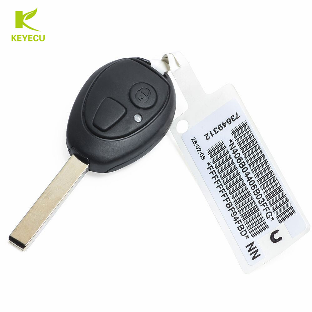 KEYECU Remote Key 2Button 433MHz Virgin Chip PCF7930AS Inside for BMW Mini Copper 2002 2005 for