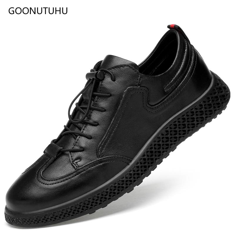 2018 neue Männer Casual Schuhe atmungsaktive Müßiggänger schwarze - Herrenschuhe