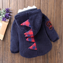 Baby boy girl winter coat child clothes children cartoon dinosaur coat casual thickening cashmere coat children's clothing Hoodi