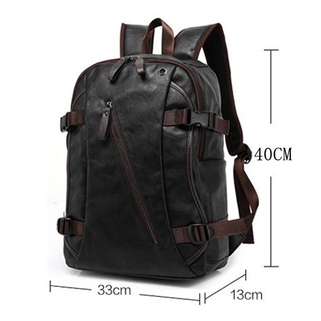 MAGIC UNION Men Oil Wax Leather Backpack Men's Casual Backpack & Travel Bags Western College Style Man Backpacks Mochila Zip Men 1