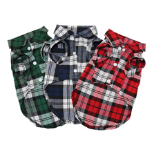 Plaid Lightweight T Shirt Jacket for Dogs