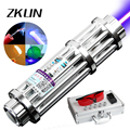 High power 2000mw Blue Laser Pointer Pen Light the smoke Aluminum alloy packaging Gatling laser cannon free shipping