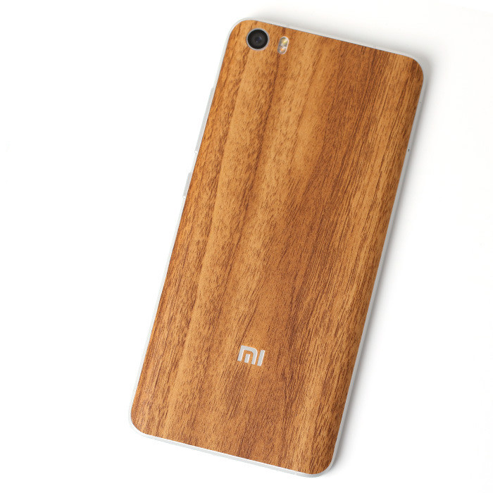 Carboon Look wood Grain back film Protective cover stickers For Xiaomi Mi5 M5 Mi 5 5