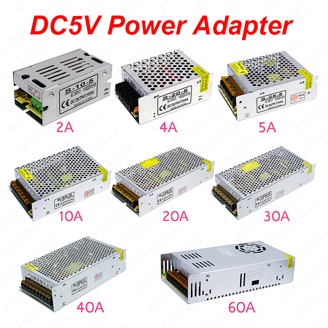 US $4 74 32% OFF|Aliexpress com : Buy AC110V 240V input switching power  supply electronic components DC5V led Strip Power to Adapter AC100 240V 1A  2A
