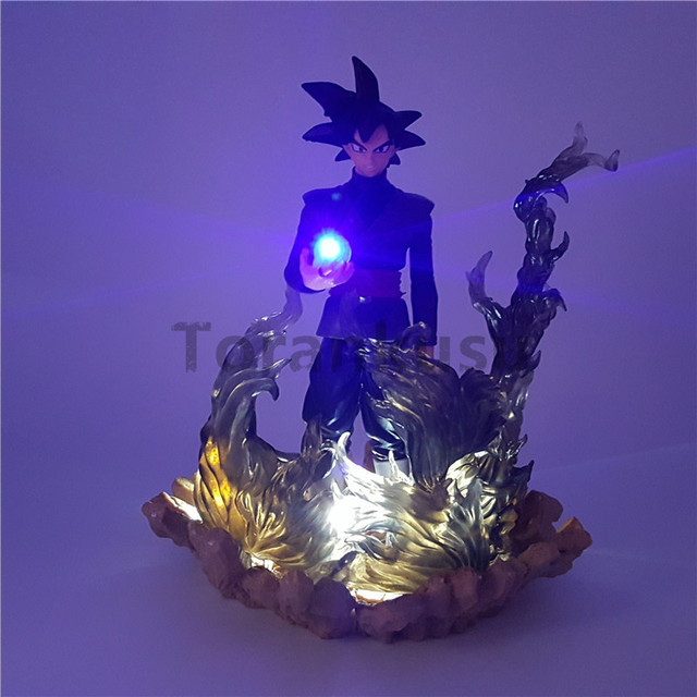 Dragon Ball Z Action Figures Black Son Goku Zamasu Led Light