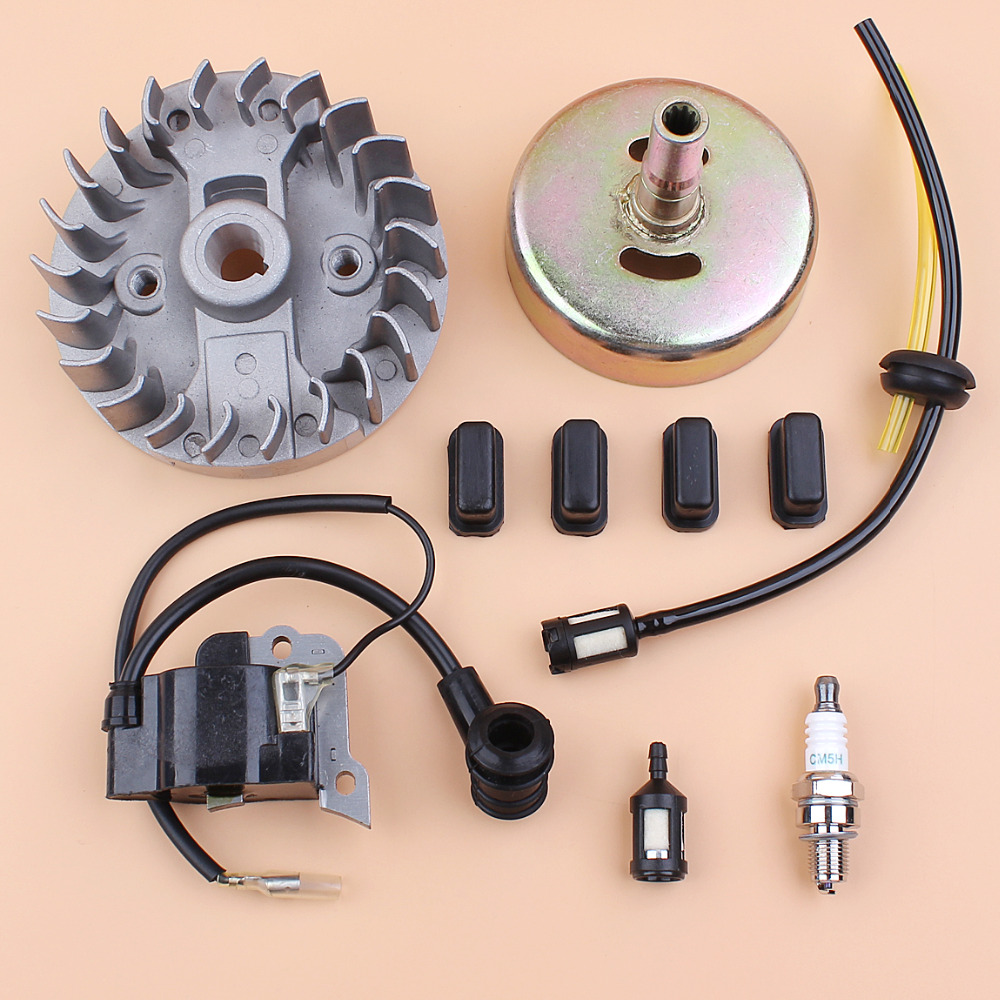Flywheel Ignition Coil 9T Clutch Drum Kit Fit HONDA GX35 GX 35 35CC 4-Stroke Small Gas Engine Strimmer Brushcutter Spares
