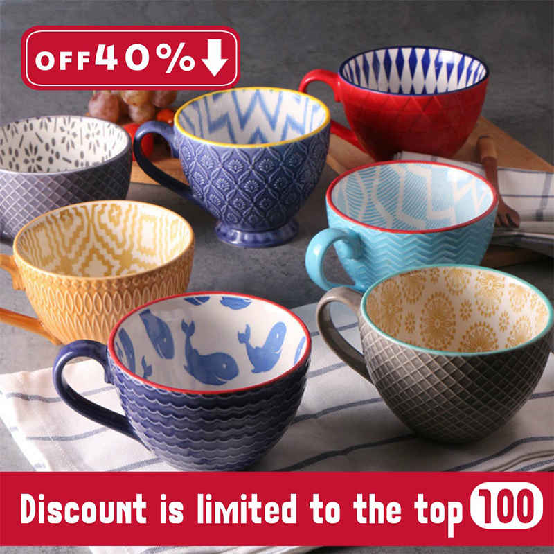 2019 New Trend Ceramics Hand-painted Retro Creative <font><b>Coffee</b></font> <font><b>Cup</b></font> <font><b>Coffee</b></font> Bar Relief Personality Breakfast Milk <font><b>Cup</b></font> Exquisite Gifts image