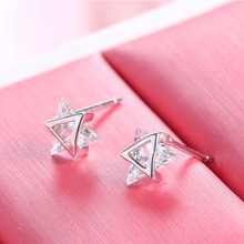 925 sterling silver mini triangle earrings simple temperament stud women jewelry female birthday gift brinco