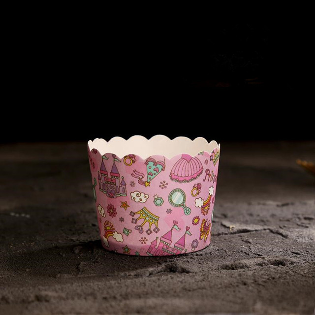 pink castle decoration big cupcake cup muffin cups high temperature resistance cake bakery cups party supply