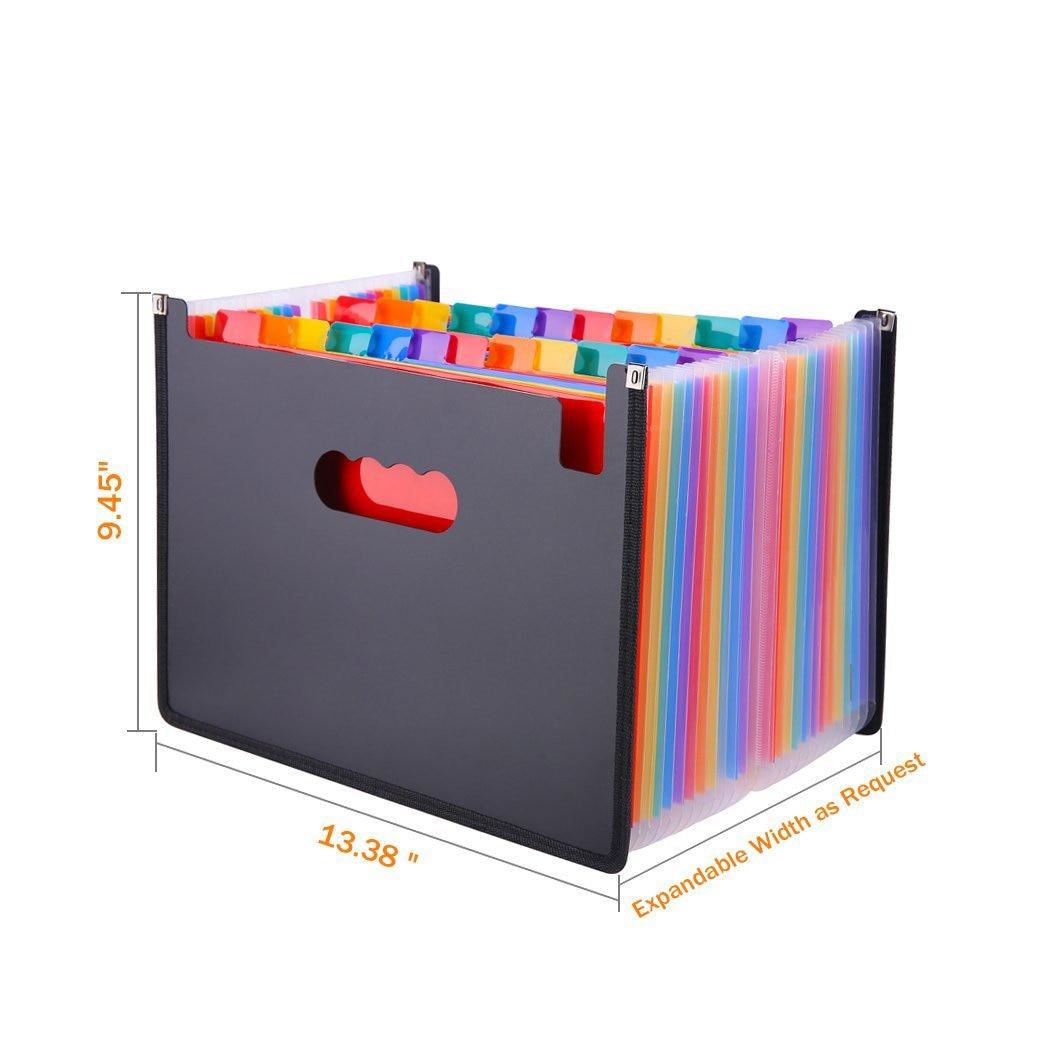 Hot Sale 24 Pockets Expanding File Folder A4 Organizer Portable Business File Office Supplies Document Holder Carpeta ArchivadorHot Sale 24 Pockets Expanding File Folder A4 Organizer Portable Business File Office Supplies Document Holder Carpeta Archivador
