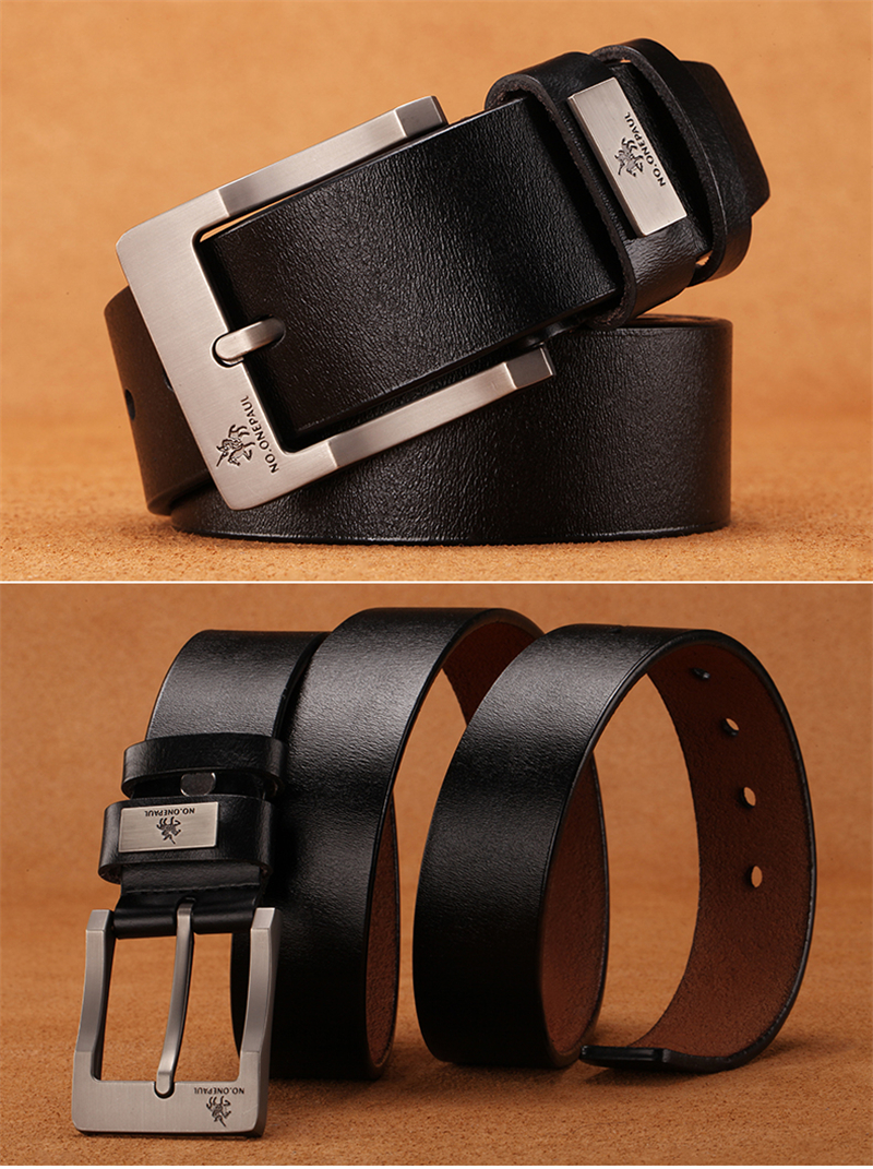 HTB18QICac vK1Rjy0Foq6xIxVXaE - NO.ONEPAUL buckle men belt High Quality cow genuine leather luxury strap male belts for men new fashion classice vintage pin