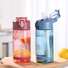 New Tritan Water Bottle With Straw 550ml/750ml Sports Fitness Gym Plastic BPA Free For Kids Portable Drink Bottles