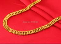 Pure 999 Solid 24K Yellow Gold Necklace / Heavy Boss Curb Necklace/ 22.22g