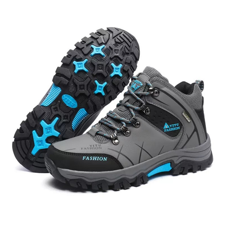 Oversized Plus size Style Men Hiking Trekking Climb Waterproof Lace Up Sport Shoes Outdoor Camping Free