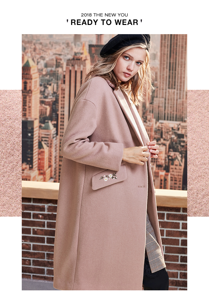 ONLY 19 Autumn Winter Women Wool Coat New Women's Embroidered Woolen Coat |11834S539 10