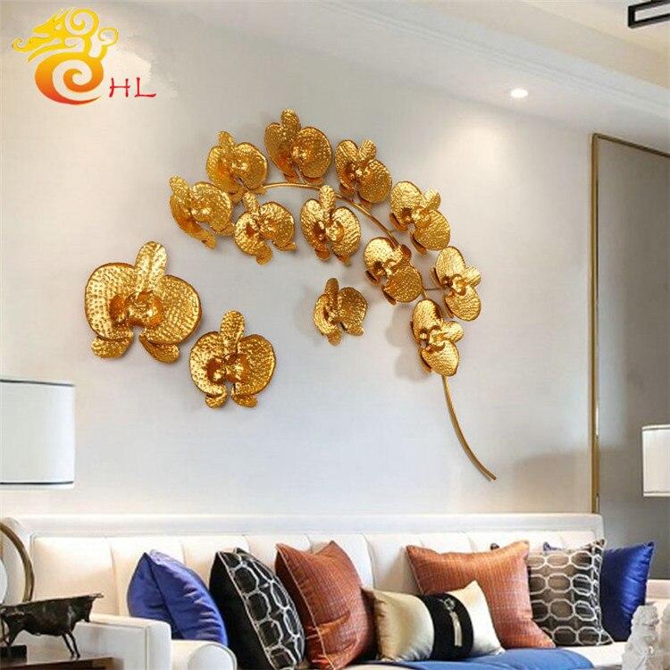 Europeo tridimensionale a mano in ferro battuto decorazione della parete autoadesivo del fiore Creativo living room corridoio corridoio appeso - 3