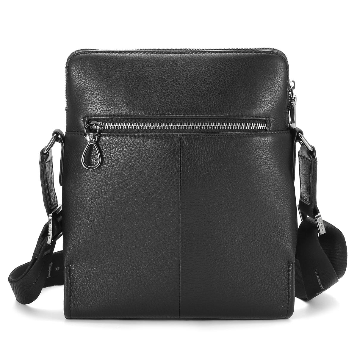 HT 100% Genuine Leather Messenger Bag Mans Crossbody Bags Brand New  Business Style Shoulder Handbags Black Satchel Bolsa Male-in Crossbody Bags  from Luggage ...