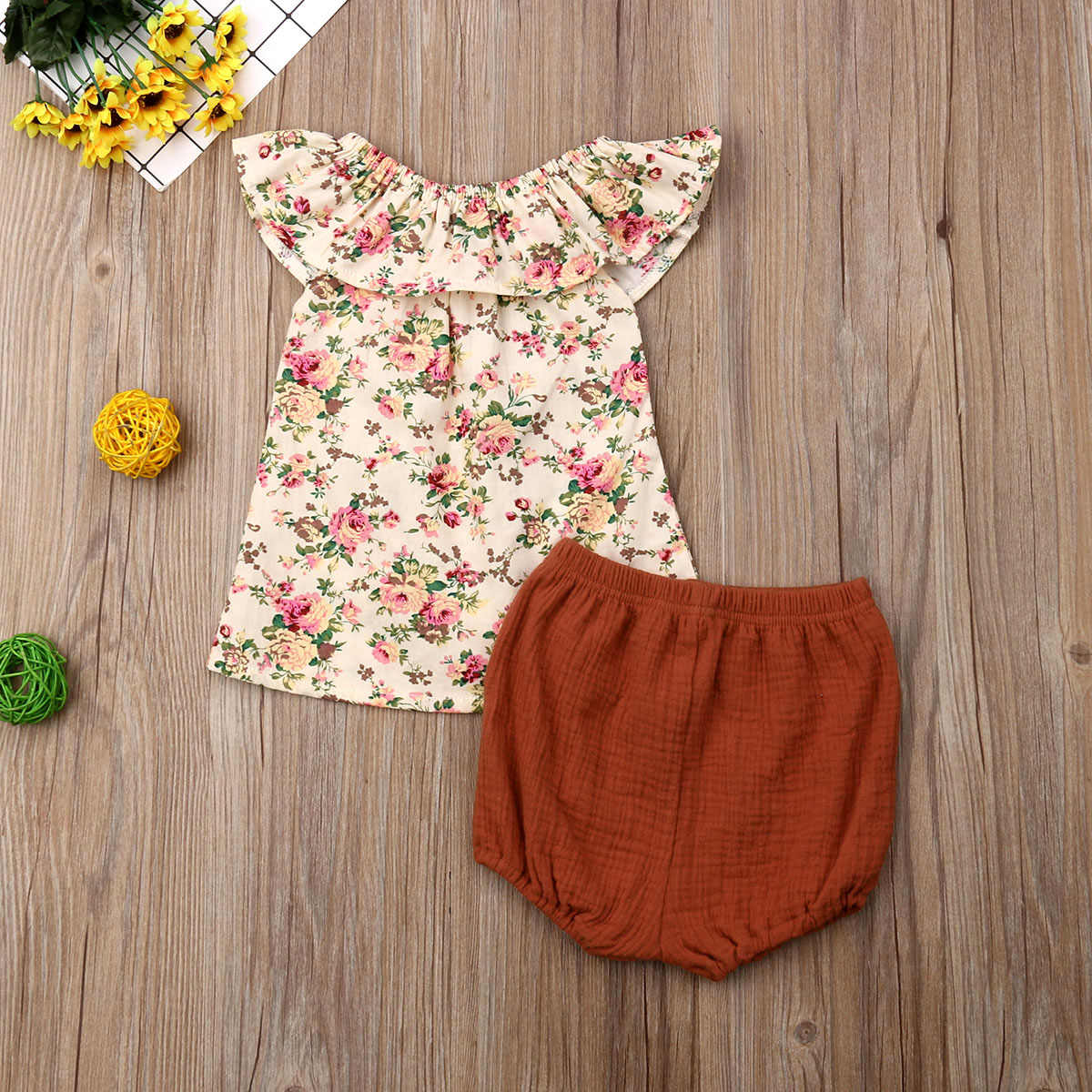 Newborn Toddler Baby Girls Tops Dress Shorts Pants Summer Outfits Clothes 0-24M