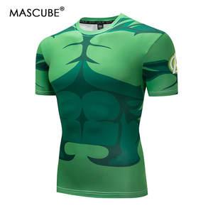 b4fef143c98 MASCUBE Slim Fit Gym Clothing Tops Male Film Tee 3D Printed Men Short  Sleeve Cosplay