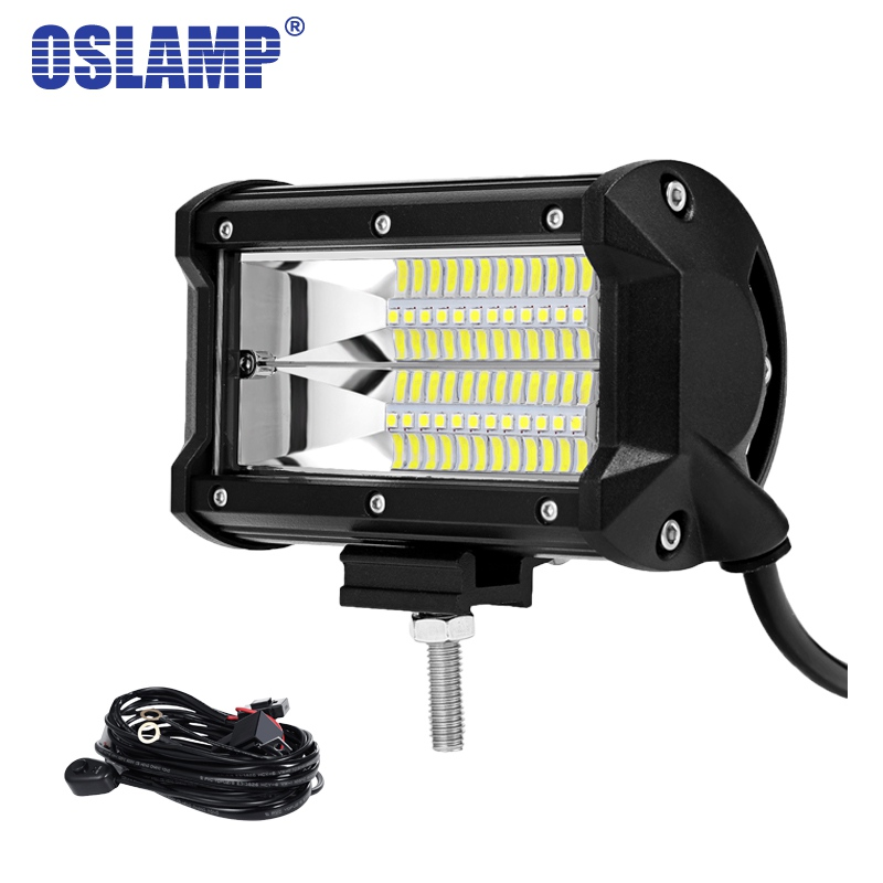 Oslamp 5 72W LED Work Light Car Flood Beam LED Light Bar Led Bar for 4x4 Truck ATV Trailer Car Offroad Driving Light 12V 24V джемпер united colors of benetton united colors of benetton un012egdwzp7