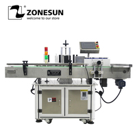 ZONEUN LT 200 Automatic Round Bottle Sticker Labeling Machine For Food Industry Factory