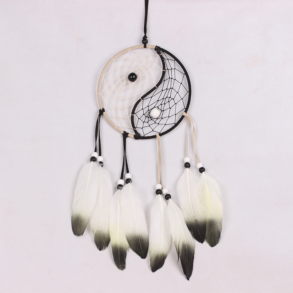 DIY dreamcatcher aeolian bells with feather pendant pure handicrafts ...