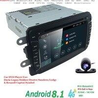 Android 8,1 емкостный экран gps Навигатор Радио для RENAULT DUSTER Dacia Logan Sandero Xray 2 DVD центральный кассетный плеер