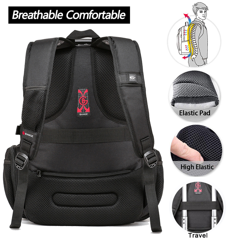 15.6 Anti-Theft Laptop Backpack  - Durable 45L S Strap Design 4