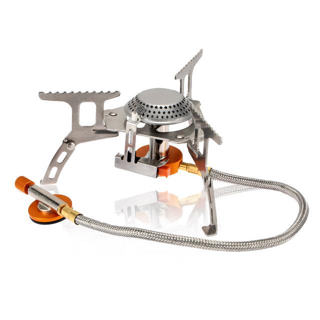 Portable Picnic Gas Stove Split Burner 3000W Stainless Steel