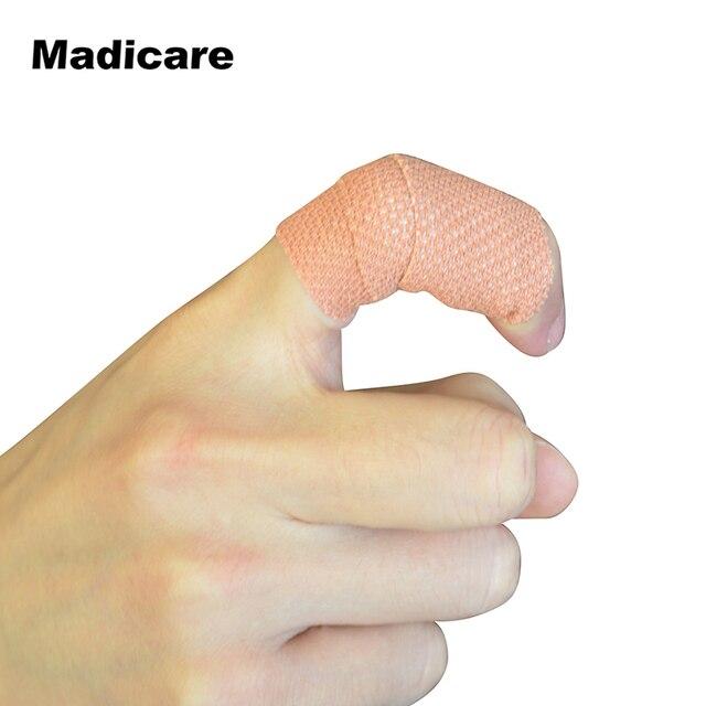 2 Peças 2.5 cm x 4.5 M Algodão Atadura Elástica Adesiva EAB Fita Dedo  Proteção Dedo 3ef49884ab2da