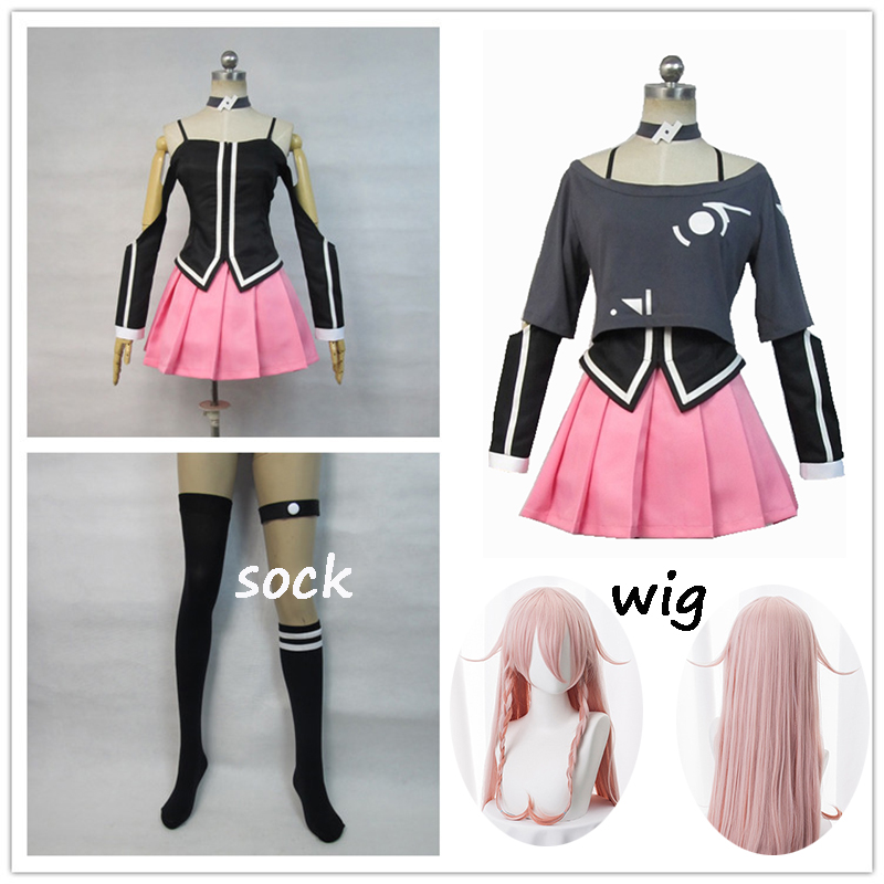 New Anime VOCALOID 3 Library IA Formula Women Cosplay Costume Full Set With Socks And Wig Hatsune Halloween Cosplay Costume 2019