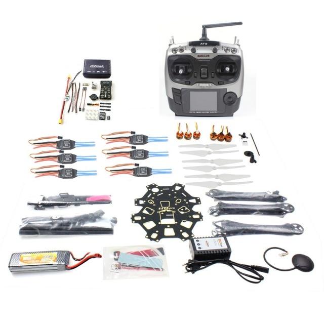 F08618-T DIY FPV Drone Hexacopter Aviones de $ number ejes Kit HMF S550 Marco PXI 920KV Motor GPS de Control De Vuelo PX4 AT9 Transmisor